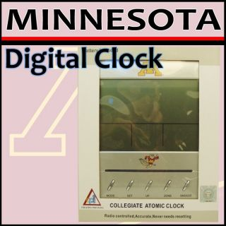 Minnesota Golden Gopher Collegiate Digital Atomic Clock