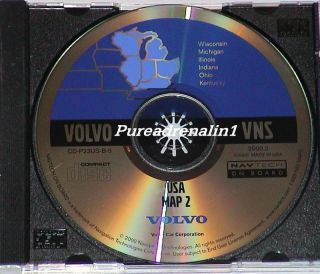 Volvo VNS Navigation System GPS CD Disc Map 2