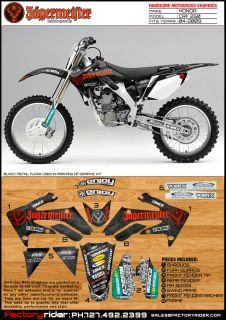 2004 2009 Honda CRF 250 Jager Motocross Graphics Honda Dirt Bike Decal Kit