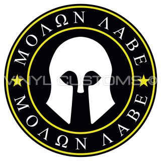 "4"" Molon Labe Decal Sticker Dont Tread on Me Gadsden Flag Vinyl Decal"