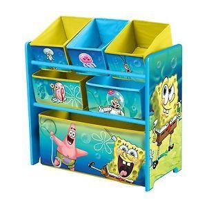 Nickelodeon Spongebob Squarepants Kids Storage Bin Toy Box New