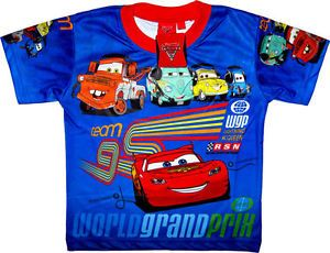 DISNEY PIXAR CARS Kids Childrens Baby Boys Toys Clothes T Shirt Top Sz 2 Age 1 2