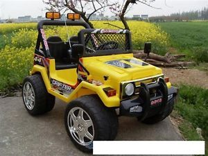 Kids Raptor 2 Engine Remote Contro 2 Battery Ride on Power Wheels Jeep Car Toy