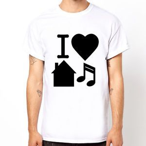 I Love House Music Design Graphic Cool T Shirt
