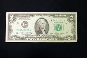 Vintage 2 Dollar Bill Series 1976 Richmond Virginia H67 E Uncirculated OFFER