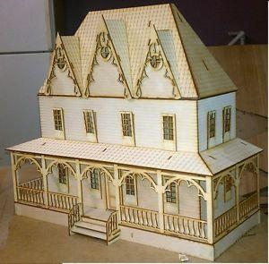 Country Villa Dollhouse Half inch 1 24 Scale Kit