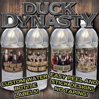 Duck Dynasty Water Bottle Labels Supplies Favors Decorations Waterbottle Drink
