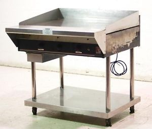 """Wolf Used Commercial 36"""" Natural Gas Griddle Flat Grill w Stand"""