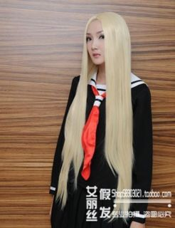 New Anime Long Blonde Hair Cosplay Fashion Carnival Party Wig