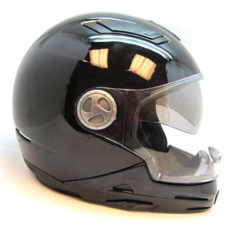 1STORM Motorcycle Motocross Dual Visor Multi in 1 Transformer Helmet Gloss Black