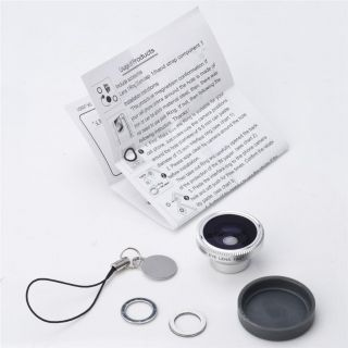 180 Degree Fish Eye Camera Lens Mobile Magnet Mount for iPhone 4 4S Touch HTC