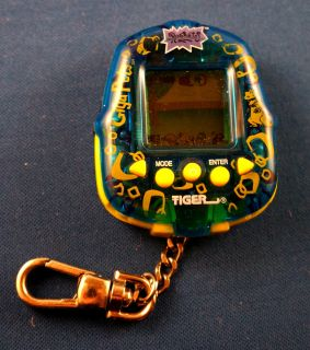 Rugrats Giga Pets Tiger Electronic Virtual Handheld Keychain Tommy Chucky Spike
