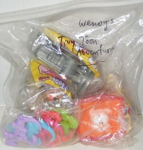 Wendy's Kids Meal Toys 1998 Tiny Toons Adventures Complete Set of 4