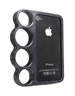 New Black Brass Knuckles Hard Bumper Side Rim Cover Case for iPhone 4 4S 4G 4GS