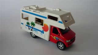 Boy Girls Kids Toy camper Van motorhome Red Blue Black Pull Back and Go Present