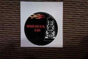 Oilfield Oil and Gas Hard Hat Sticker Decal