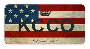 3 KCCO USA Flag Hard Hat Helmet Vinyl Decal Sticker Car Truck Military Army