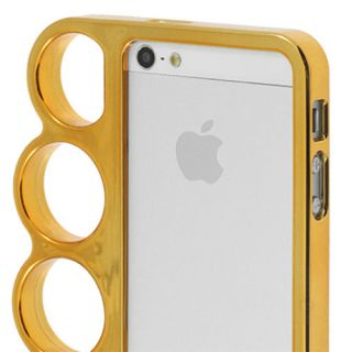 Crazy Brass Knuckles Case Cover for Apple iPhone 5 Copper Gold Hard Plastic
