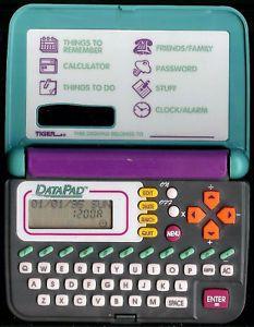 Data Pad Tiger Electronic Handheld Pocket Organizer Dear Diary Password Kids Toy