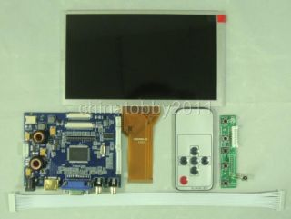 HDMI VGA 2AV Audio LCD Driver Board vs TY2668 V1 7inch 800 480 AT070TN92 Remote