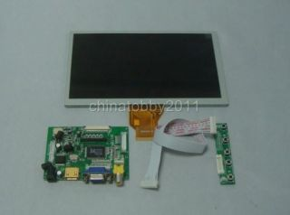 HDMI VGA 2AV Auto Switch to AV2 Driver Board 8inch 800 480 AT080TN64 LCD Panel