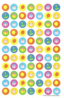 Sandylion Vintage Mini Birthday Party Icons 1 Maxi Sheet 1999 Super Vintage