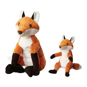New IKEA Vandring RÄV Plush Red Brown Fox Mom or Dad and Baby Soft Toy Kids Gift