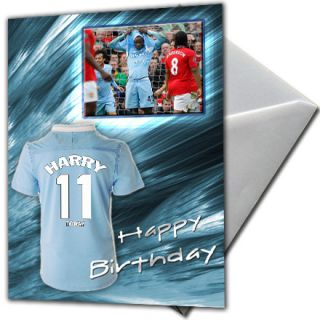Football Personalised Birthday Card Large A5 Real Barcelona Messi