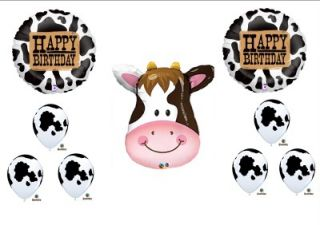 Cow Western Rodeo Birthday Party Ballloons Decorations Supplies Farm Barnyard