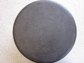 "Antique Vtg Griswold 11 Huge Large 13"" Dutch Oven Pot Pan Slant Logo Erie 836"