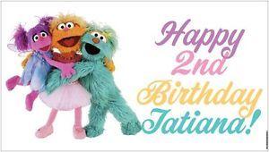 Custom Abby Cadabby Zoe Rosita Sesame Street Birthday Party Banner Decorations
