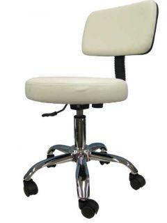 Medical Doctor Dental Drafting Office Chair Stool White