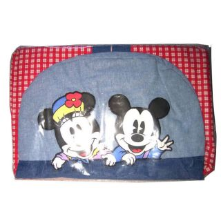 Classic Disney Baby Mickey Mouse Minnie Blue Red Diaper Stacker New