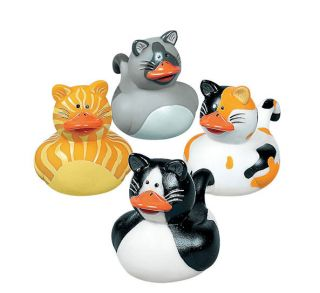 12 Kitty Cat Rubber Ducks Kittens Party Favors Birthday Cake Toppers