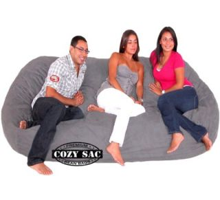 Bean Bag Chair Love Seat by Cozy Sac Micro Suede 8' Choose A Color Huge Sack
