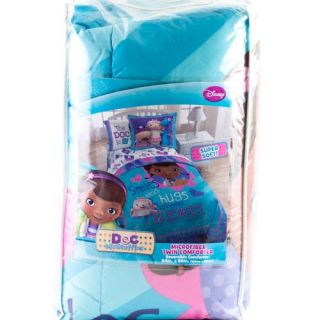 Doc McStuffins Twin Single Bedding Comforter Girls Kids Bedspread Disney Smiles