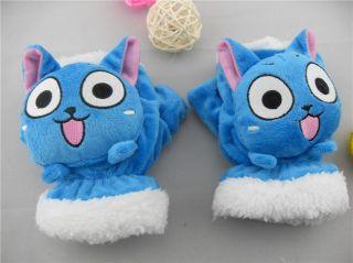 Fairy Tail Anime Happy Cat Soft Plush Gloves Costume