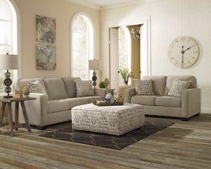 Ashley Alenya Quartz Beige Sofa Couch Loveseat Living Room Chair Set 1660038 35