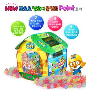 Pororo Melody Ball Tent Childs Kids Square Play House Alphabet Mesh Doors Korea