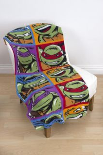 Teenage Mutant Ninja Turtles Dudes Fleece Blanket Bed Throw New Gift