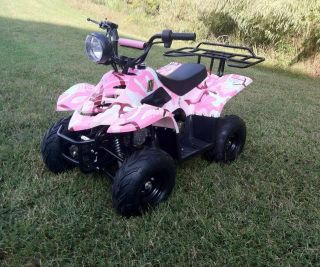 2014 Pink Camo 110cc Kids Sporty ATV 110cc Auto Quad 4 Wheeler Youth 110cc ATV