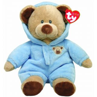 New Ty Pluffies Blue Baby Bear Plush Stuffed Animal Toy 10'' Baby Shower Gift