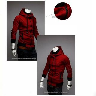 New Assassins Creed Hoodie Hat Slim Coat Cosplay Casual Jacket for Handsome Men