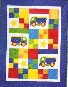 Toy Trucks Fun Pieced Applique Kids Truck Quilt Pattern