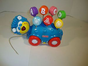 Blue Bear Bus Rolls Sing Along Music Play Mattel Toy Kids Car ABC and Shapes