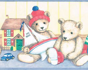 Teddy Bear Toy Box Book Kids Room Only $9 99 Free Shipping Wallpaper Border Wall