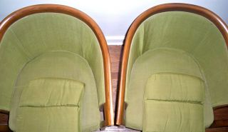Drexel Furniture Company RARE Matching Green 1960's Modern Vintage Chair Set
