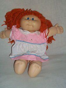 "17"" Xavier Roberts Cabbage Patch Kids Doll Red Yarn Hair Stuffed Animal Plush"