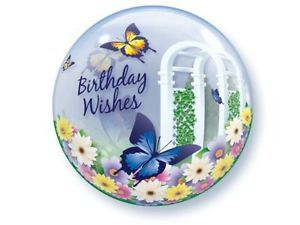 Butterflies Birthday Wishes Bubble Balloon Party Supplies Decorations