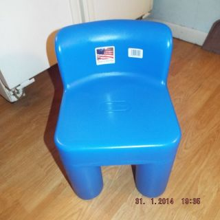 Little Tikes Blue Chunky Chair Child Size Brand New